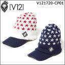 【ポイント10倍】ヴィトゥエルヴ V12 メンズ レディース ゴルフ ニットキャップ 星柄 ASU V121720-CP01