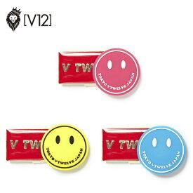 ヴィトゥエルヴ ゴルフマーカー スマイルマーカー おしゃれ かわいい ピンク イエロー ブルー V12 SMILE MARKER V121820-AC03 ユナイテッドコアーズ