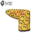 ヴィトゥエルヴ V12 メンズ レディース ゴルフ ヘッドカバー SMILE PUTTER COVER (YELLOW) スマイル パターカバー V12…