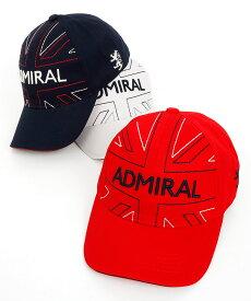 AM パネルUJロゴ刺繍 コットンキャップ Admiral Golf アドミラルゴルフ 秋冬新作 ゴルフウェア レディース