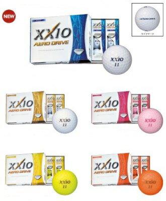 ダンロップ ゼクシオ エアロ ドライブ ゴルフボール XXIO AERO DRIVE 2015モデル 1ダース(12球)