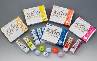 【今だけ特価】 ダンロップ ゼクシオ エアロ ドライブ ゴルフボール XXIO AERO DRIVE 2015モデル 1/2ダース(6球)