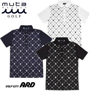 muta ムータ メンズ ポロシャツ 吸汗速乾 かっこいい モノグラム おしゃれ 春夏 2020 ゴルフウェア プレゼント
