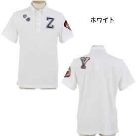 【30%OFF SALE】ZOY ゾ−イ メンズ半袖シャツ ワッフル素材 ロゴワッペン 2020年春夏モデル