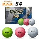 ボルビック Volvik S4 ゴルフボール 1ダース (12球入り)【メール便不可】【あす楽対応】