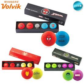 ボルビック マーベル ヴィヴィッド Volvik VIVID Marvel マットカラー ゴルフボール (1箱/4球+マーカー) USモデル【メール便不可】【あす楽対応】