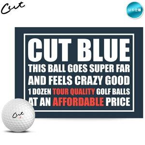 カットゴルフ CUT GOLF カットブルー CUT BLUE 4ピース ゴルフボール 1ダース(12球入り) US仕様【メール便不可】【あす楽対応】