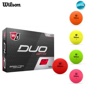 2020 Wilson デュオ オプティクス マットカラー 1ダース US仕様 ゴルフボール【メール便不可】【あす楽対応】
