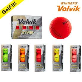【2020年6月10日 リニューアル】ボルビック VOLVIK カラーボール初速 向上 飛距離アップスリーブ ゴルフボール ビビッドカラーおしゃれ マットカラーVOLVIK ボール VIVID スリーブ3個入ゴルフ用品 ライト(LITE)B-662