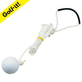 シンプルショット用 アイリスソーコーゴルフ用品 ゴルフ練習器ライト(LITE)M-312紐付スペアボール(SS-023)