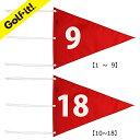 ゴルフ用品 番手付旗 フラッグライト(LITE) M-110ナイロン三角旗番手付1〜9/10〜18