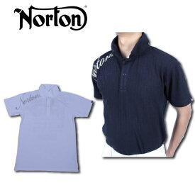 【30%OFF】ノートン メンズ 半袖 ポロシャツ 大きいサイズ 182N1201 ストライプ ブリスター ジャカード ポロシャツ Norton