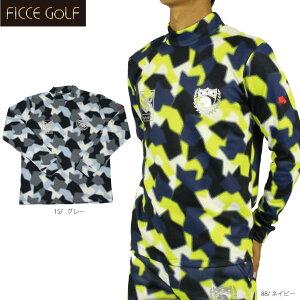 【70%OFF】フィッチェゴルフ 281619 迷彩柄ハイネック メンズ ゴルフ 長袖トップス ゴルフウエア 大きいサイズ FICCE GOLF