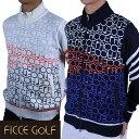 【半額以下】 フィッチェゴルフ メンズ ニット ブルゾン アウター 大きいサイズ ゴルフウェア 271602 ロゴ柄 正規販売…