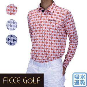 【70%OFF】フィッチェゴルフ メンズ 長袖ポロシャツ 大きいポロシャツ ゴルフウェア 271605 正規販売店 ゴルフシャツ Ficce Golf 長袖トップス カットソー 長袖カットソー 吸汗速乾 大きいサイズ F
