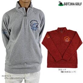 【30%OFF】GOTCHA GOLF ガッチャゴルフ 193GG1206 両面フリースハーフジップポロ フリース ゴルフ ゴルフウェア