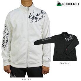【新作】【2019秋冬】 GOTCHA GOLF ガッチャゴルフ 193GG1301 裏フリースボンディングニットライクJQスタンドジャケット メンズ ゴルフ gotcha golf 大きいサイズ【ラッキーシール対応】