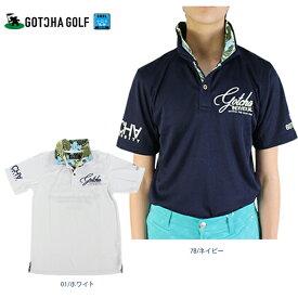【30%OFF】ガッチャゴルフ メンズ ポロシャツ 202GG1204 接触冷感 ボタニカル柄使いポロシャツ M-XXXL メンズ ホワイト/ネイビー 全2色 ポロ ボタニカル 接触冷感