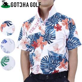 【50%OFF】 ゴルフ ウエア ガッチャゴルフ ポロシャツ メンズ 半袖 ボタニカル総柄ポロ 72gg1215 GOTCHA GOLF ガッチャ【ラッキーシール対応】