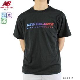 【クリアランス】【2020春夏】ニューバランス ゴルフ 半袖Tシャツ メンズ 012-0163001 ブラック M-3L 大きいサイズ 吸汗速乾 UV ゴルフウェア 春夏 Tシャツ ニューバランスゴルフ new balance golf