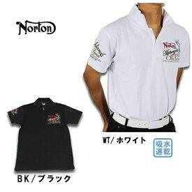 【30%OFF】ノートン メンズ 半袖 ポロシャツ 大きいサイズ 182N1216 吸水速乾王道ポロ 吸水速乾 ゴルフウェア メンズ Norton