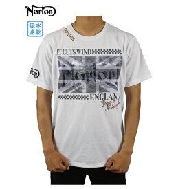 【30%OFF】ノートン メンズ 半袖Tシャツ  大きいサイズ 192N1003  ユニオンジャック メンズ トップス ア 吸水速乾 カジュアル アメカジ バイカー Norton