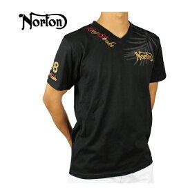 【30%OFF】ノートン メンズ 半袖 Tシャツ 大きいサイズ 192N1012 リゾート柄 Vネック トップス カジュアル アメカジ Norton