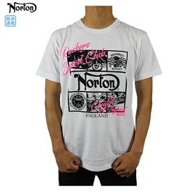 【30%OFF】ノートン メンズ 半袖 Tシャツ 大きいサイズ192N1013 JAPAN加工 フレームフォトネオンTシャツ トップス Tシャツ 吸水速乾 アメカジ カジュアル Norton