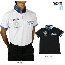 【30%OFF】ノートン メンズ 半袖 ポロシャツ 大きいサイズ 192N1210 ブルースチール ゴルフウエア ゴルフ 吸水速乾 Norton