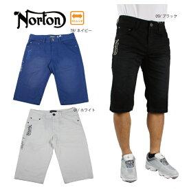 【30%OFF】ノートン メンズハーフパンツ 七分丈パンツ 大きいサイズ 192N1903  ショーツ ストレッチ ゴルフ ボトムス Norton