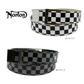 【15%OFF】【新作】【2019春夏】ノートン Norton ゴルフ 192N8102 ベルト リバーシブル チェッカーベルト プレゼント 【ラッキーシール対応】