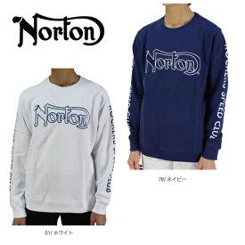 【30%OFF】ノートン メンズ 長袖 Tシャツ 大きいサイズ ロンT 201N1300 チェッカーロゴカラートレーナー ゴルフ  メンズ Norton