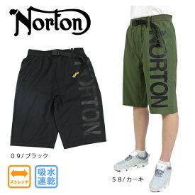 【2021春夏新作】ノートン メンズ ショートパンツ 212N1908 大きいサイズ有 ゴルフ ストレッチ 吸水速乾 Norton 膝下