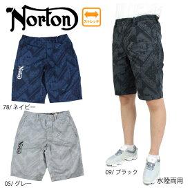 【2021春夏新作】ノートン メンズ ショートパンツ 水陸両用 212N1910 大きいサイズ有 ゴルフ Norton バンダナショーツ