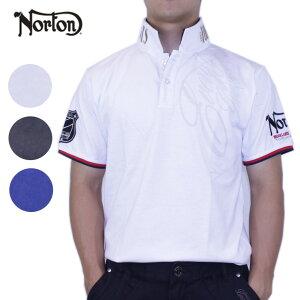 【70%OFF】ノートン メンズ 半袖 ポロシャツ 大きいサイズ ユニオンジャック ゴルフ ウエア ゴルフ W襟 72N1215 [正規販売店] ユニオンジャック叩き付けポロ Norton
