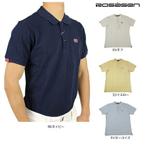 【半額以下】ロサーセン メンズ 半袖ポロシャツ 大きいサイズ 044-27342 カラーネップカノコポロ ゴルフシャツ ゴルフウエア シンプル 無地ポロシャツ Rosasen