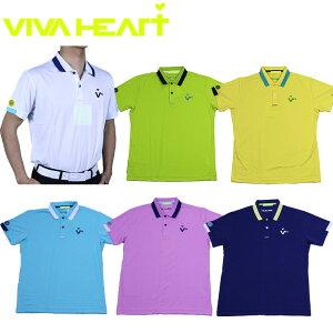 【70%OFF】ビバハート メンズ ゴルフウェア 半袖 大きいサイズ ポロシャツ 011-25240 半袖シャツ カラフル VIVAHEART