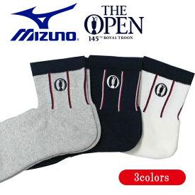 ミズノ ゴルフ ソックス メンズ The Open 25〜27cm L型ヒール構造 だぶつき軽減 全3色 mizuno 52JX9102 outlet