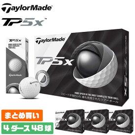 【4ダースセット】テーラーメイド ゴルフ ボール TP5x まとめ買い ツアーボール ソフトキャストウレタンカバー トライファストコア 5ピース 4ダース 48球入り TaylorMade 【MS】
