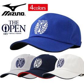 ミズノ ゴルフ キャップ メンズ The Open 56〜60cm 消臭効果 ベルト調節 全4色 綿100% mizuno 52MW9102