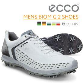 【店頭展示品】ECCO メンズ ゴルフ シューズ MEN'S GOLF BIOM G2 Lace 天然皮革 軽量 撥水 15BIOM G2 16BIOM エコー