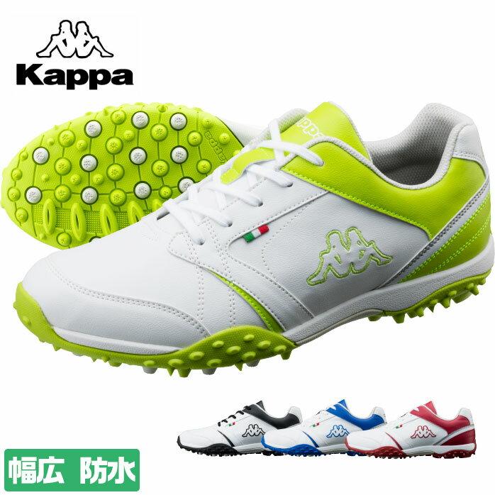 KAPPA 機能性ビッグロゴ ゴルフシューズ 防水 幅広 クッション性 3E シューズ カッパ KPGL012X 当店限定モデル 【P10K】 【20S】