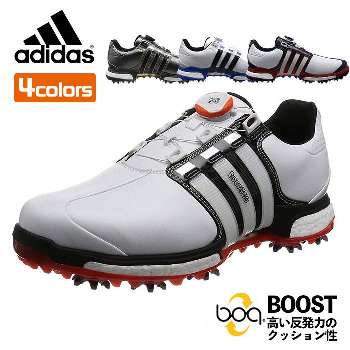 アディダス adidas ゴルフ シューズ メンズ TOUR360 Boa BOOST X ツアー360 ボアブーストX 360WRAP スパイク Q449 【P10K】