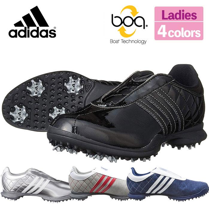 アディダス adidas ゴルフ シューズ レディース DRIVER Boa Limited ドライバーボア リミテッド スパイク 防水 軽量