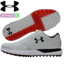 アンダーアーマー UNDER ARMOUR ゴルフ ゴルフシューズ スパイクレス PERFORMANCE WIDE 人工皮革 WHITE/BLACK/RED 1302345