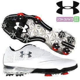 アンダーアーマー UNDER ARMOUR ゴルフ ゴルフシューズ ソフトスパイク UA TOUR TIPS X-WIDE WHITE/WHITE 人工皮革 合成樹脂 1299227 outlet