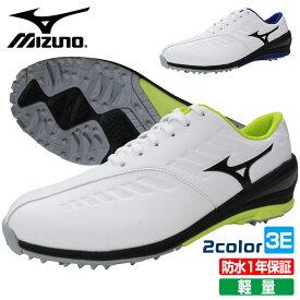 ミズノ MIZUNO ゴルフシューズ メンズ 軽量 防水 スパイクレス 紐タイプ 51GR1999