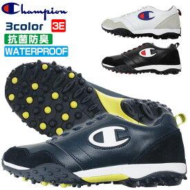 チャンピオン ゴルフ シューズ スパイクレス メンズ レディース ユニセックス 幅広 3E 防水 抗菌防臭 Champion GL006