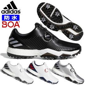 アディダス ゴルフ シューズ メンズ ADIPOWER 4ORGED BOA ボア ソフトスパイク フォージド 防水 軽量 安定性 通気性 合成皮革 adidas BB79