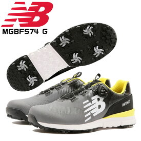 ニューバランス ゴルフシューズ メンズ ソフトスパイク MGBF574 G BOAフィットシステム FANTOM FIT REVLITE 防水 NEWBALANCE
